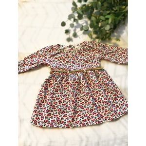 Floral Suede Belted Baby Dress